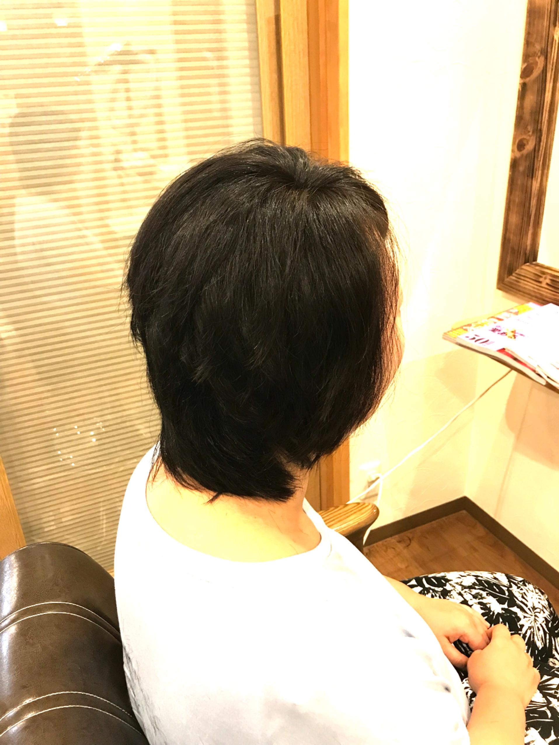 広がる髪をまとまりよく