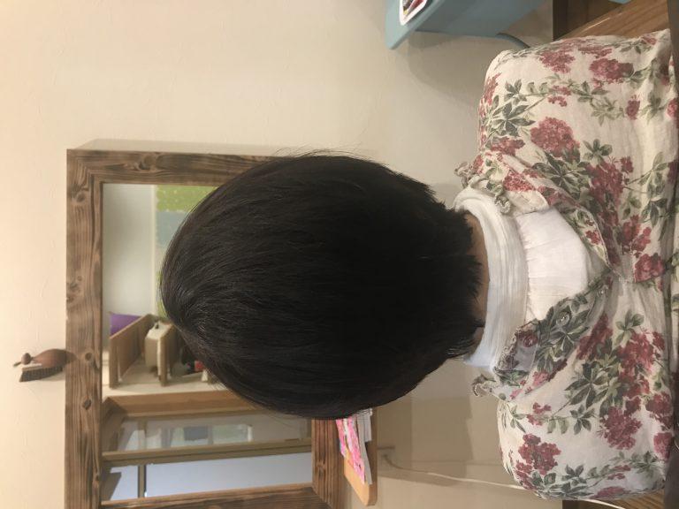 サラサラの髪を立体的に