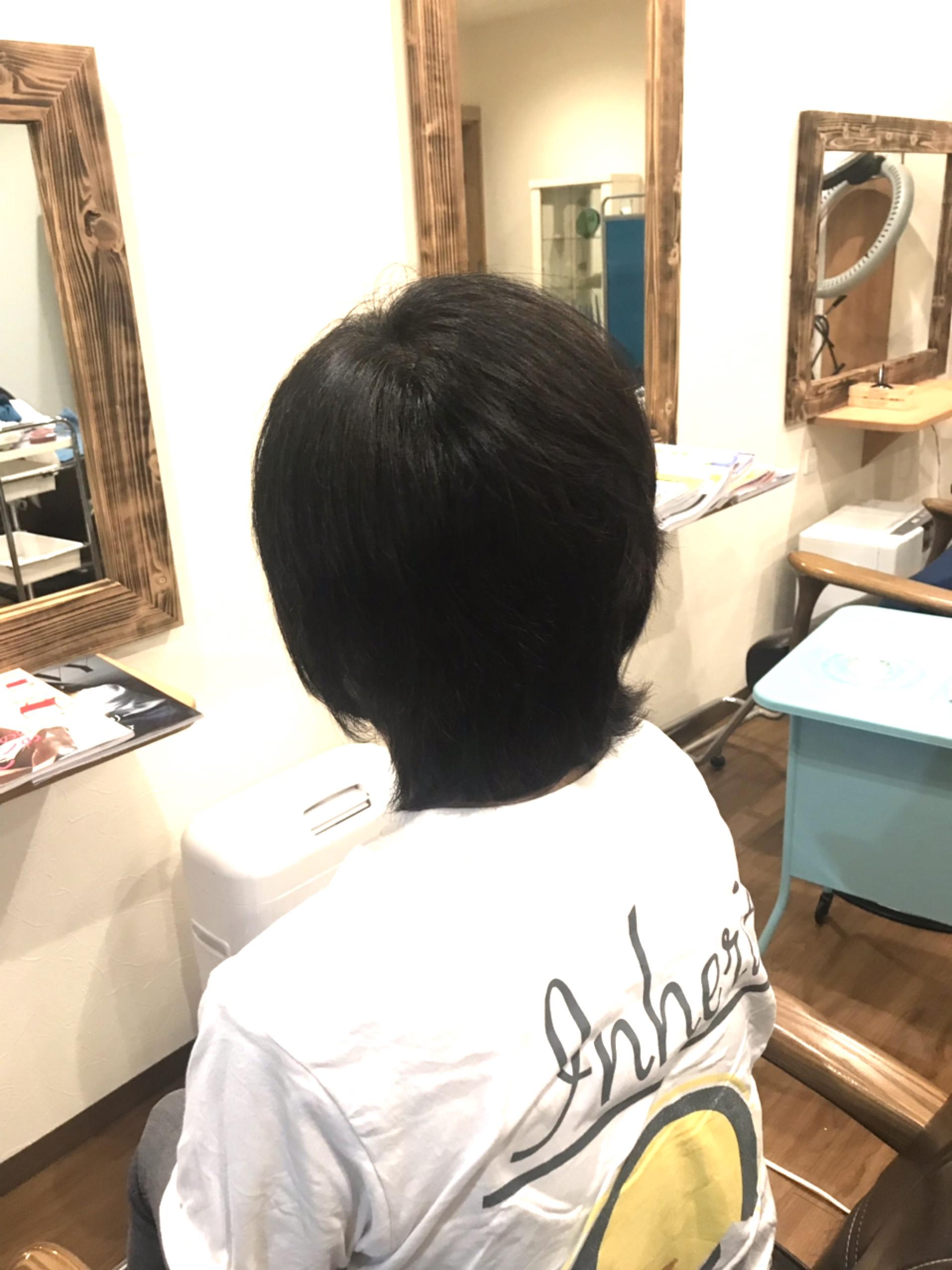 ツヤツヤの髪に変わっている
