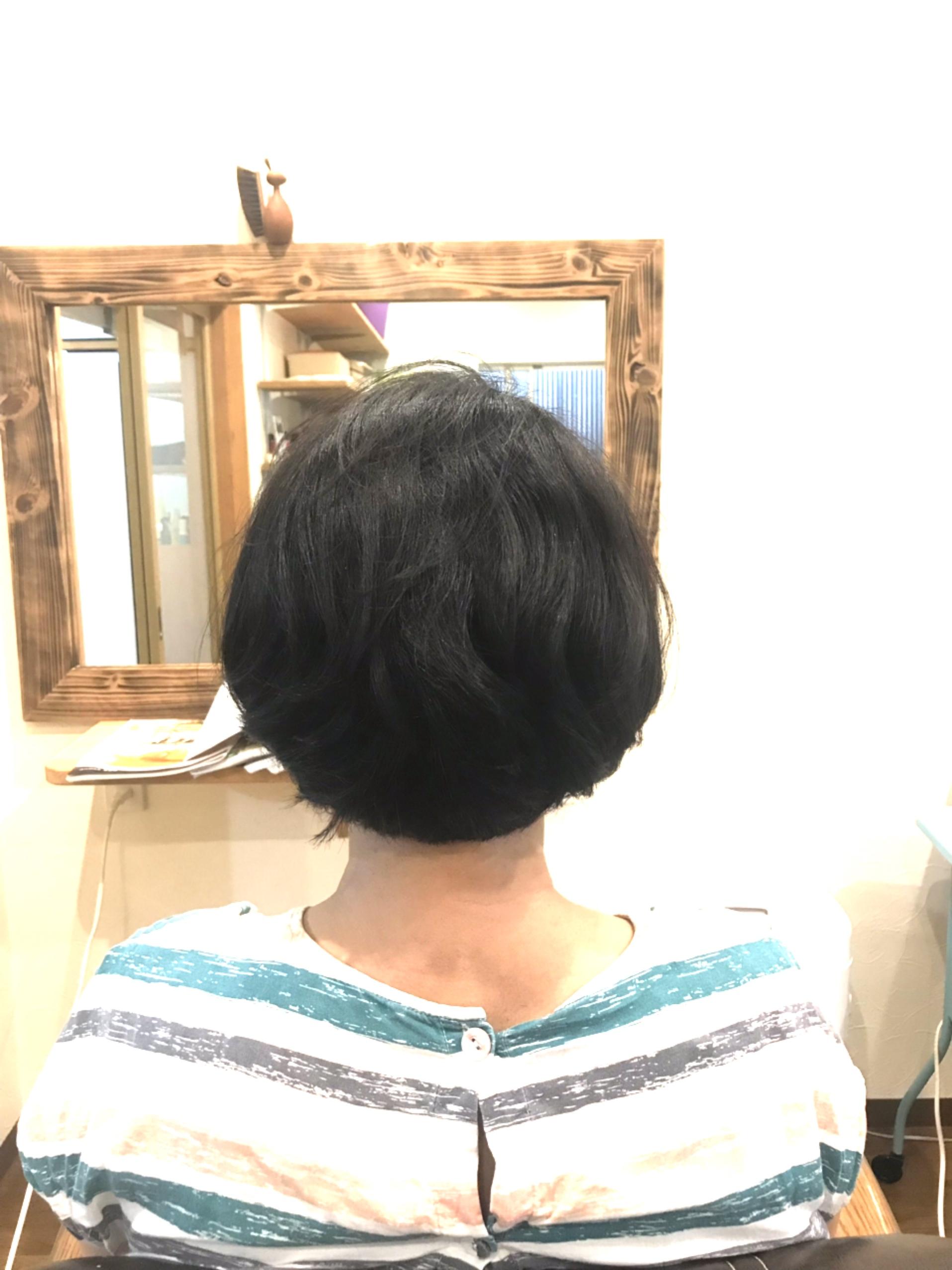 髪が内に入るようになった