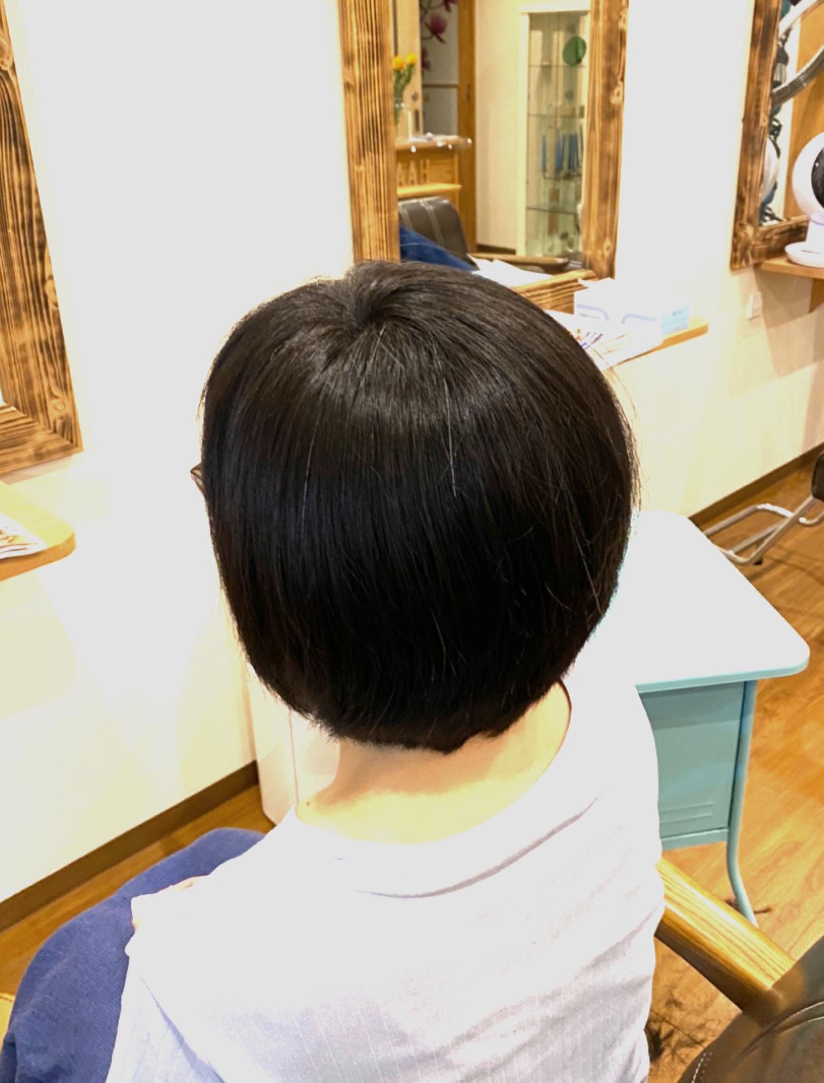 はりのある髪質