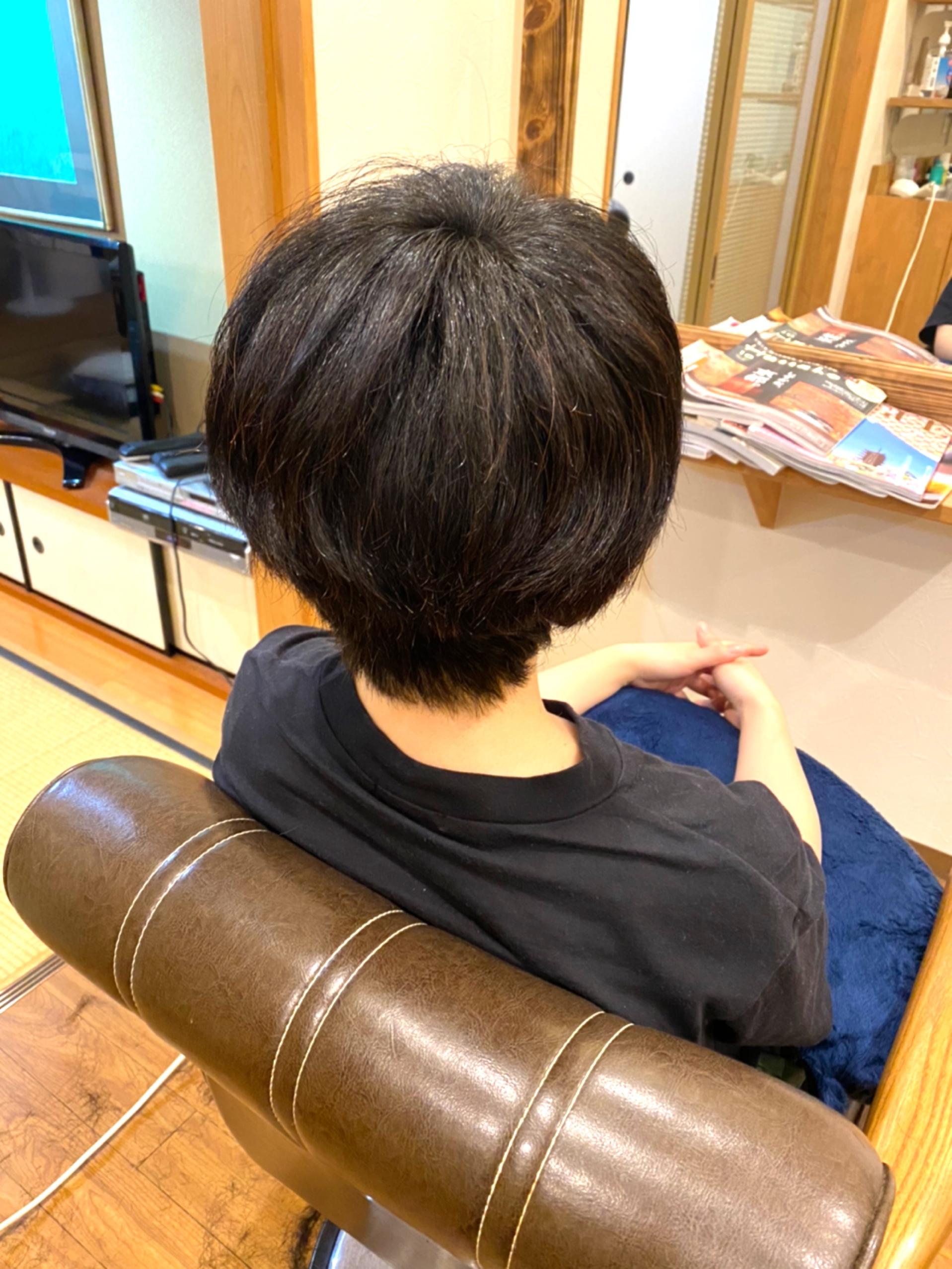 しっかりした豊富な髪