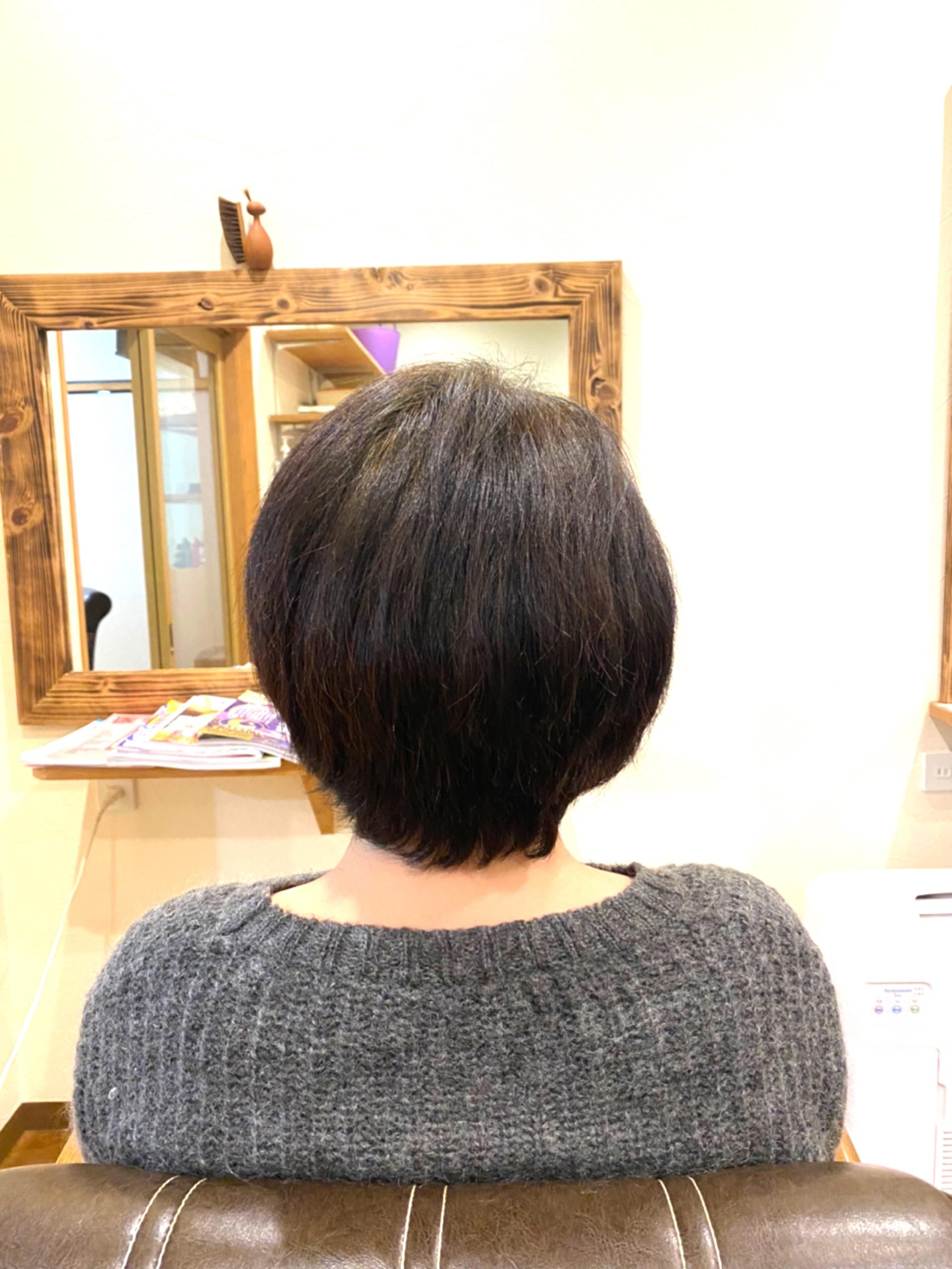 ご自分の髪に目を向ける