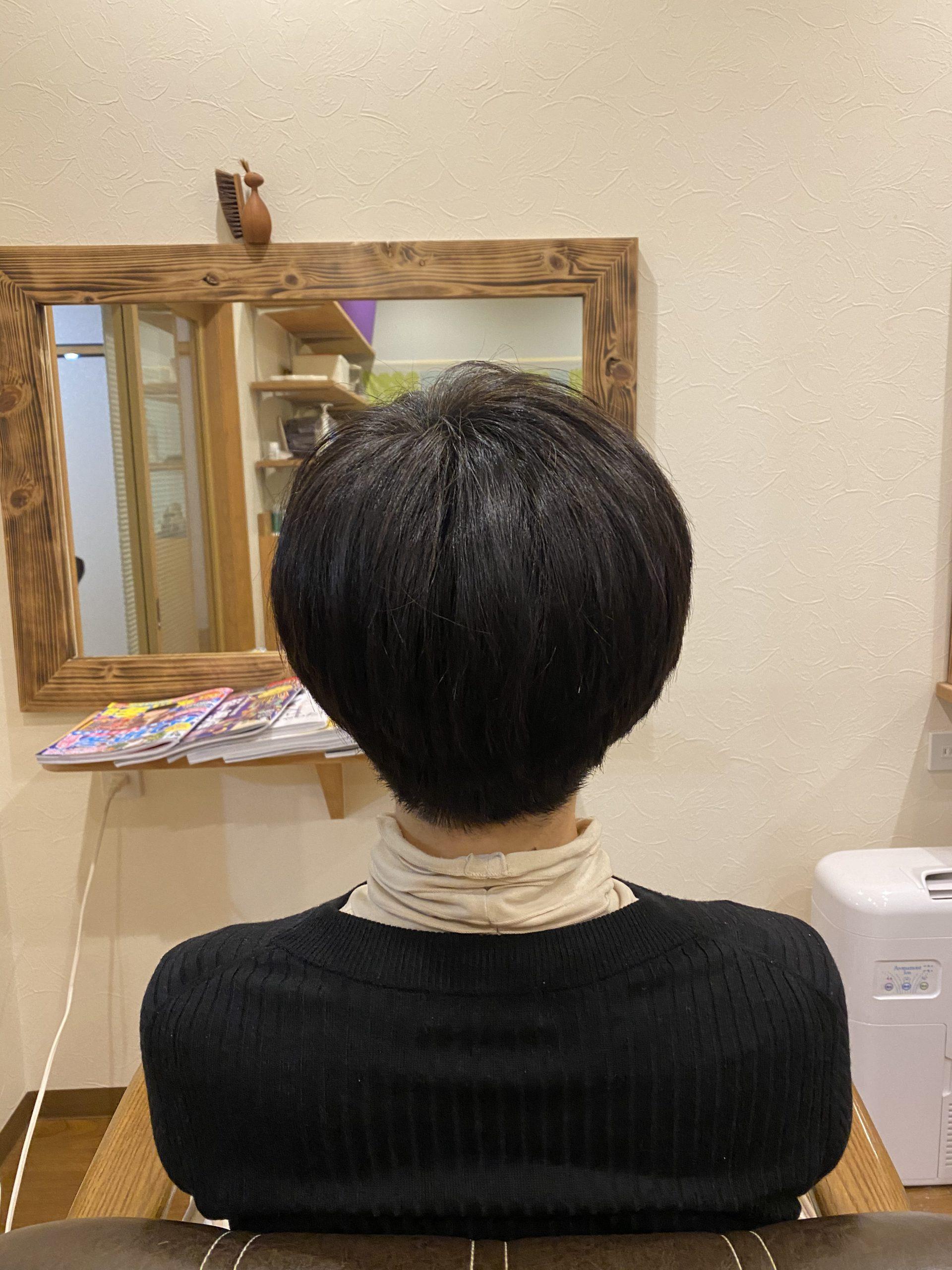 ツルツルの髪